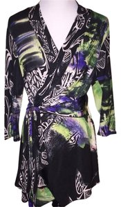 Alberto Makali 3/4 Sleeves Wrap Around Print Beaded Evening Nordstrom's Size 8-10 Cardigan