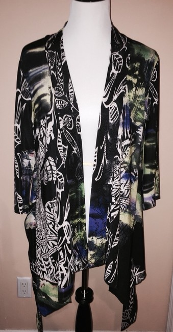 Alberto Makali 3/4 Sleeves Wrap Around Beaded Evening Nordstrom's Size 8-10 Cardigan