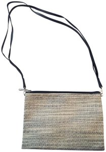 Chilewich Woven Basketweave Vinyl Clutch Baguette