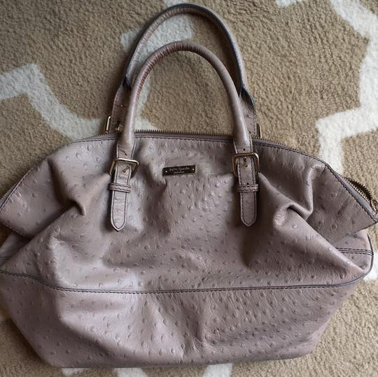 Kate Spade Ostrich Leather Like New Satchel in Taupe