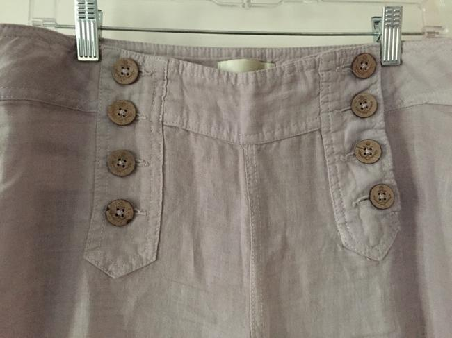 Other Flare Wooden Linen Lounge Beach Relaxed Pants Light Gray