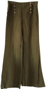 Other Flared Beach Lounge Wooden Relaxed Pants Green