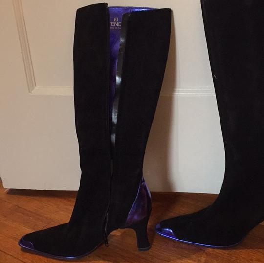 Fendi black and blue metallic Boots