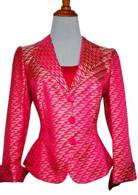 Preload https://item5.tradesy.com/images/giorgio-armani-pink-collezioni-italy-metallic-gold-spring-summer-silk-shell-top-jacket-blazer-size-8-2242664-0-0.jpg?width=400&height=650