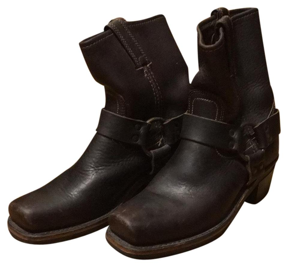 Frye Chocolate Brown Brown Chocolate Women's Harness Boots/Booties 7af08c