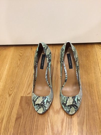 Ann Taylor Snakeskin Seaside Platforms