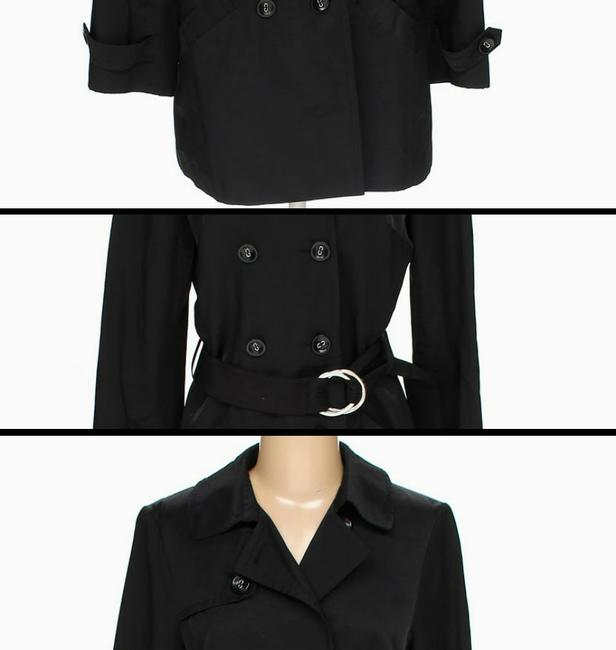 AB Studio Belted Scuffs Double Button Jacket Belted Trench Coat