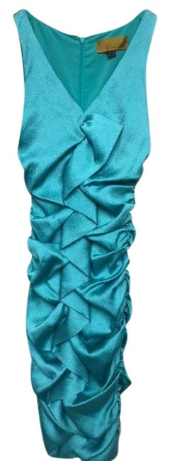 Preload https://img-static.tradesy.com/item/22426652/nicole-miller-turquoise-mid-length-cocktail-dress-size-0-xs-0-1-650-650.jpg