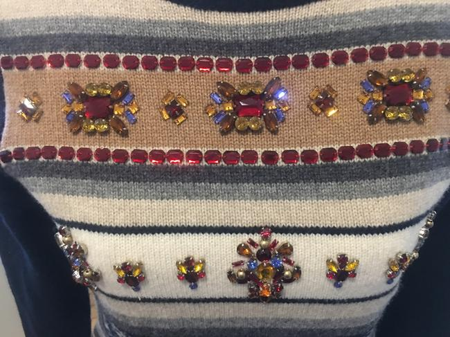 J.Crew Wool Fair Isle Jeweled Sweater