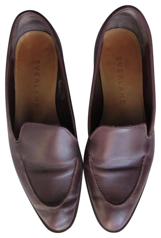 922eb21290a Everlane Burgundy Modern Loafer 3 4 Stacked Heel Flats Size US 5.5 ...