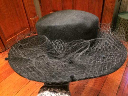 Orli Couture Wool Felt Hat with veil