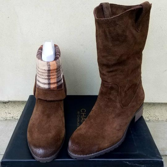 Charles by Charles David Dark Brown Suede Boots