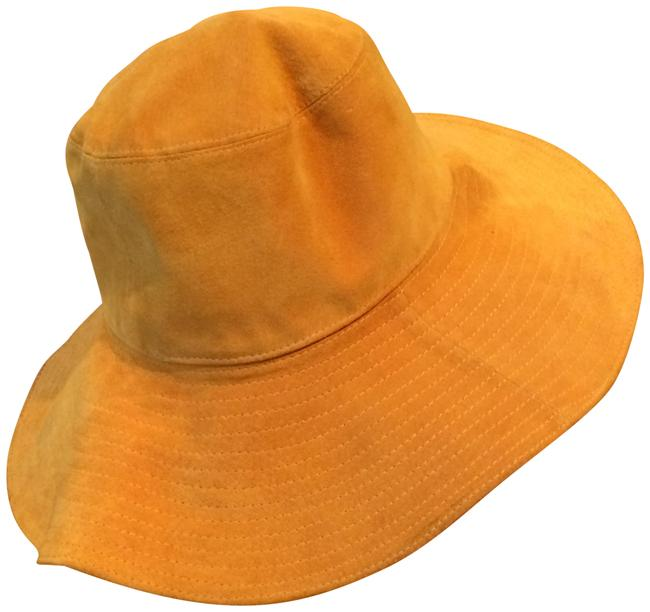 Barneys New York Gold Floppy Suede Hat Barneys New York Gold Floppy Suede Hat Image 1