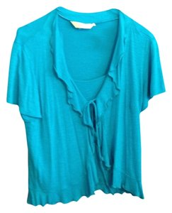 New York & Company Built In Cami Top Aqua Blue