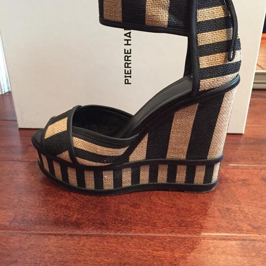 Pierre Hardy Jute And Leather Wedge Sandal Size 7 Wedges