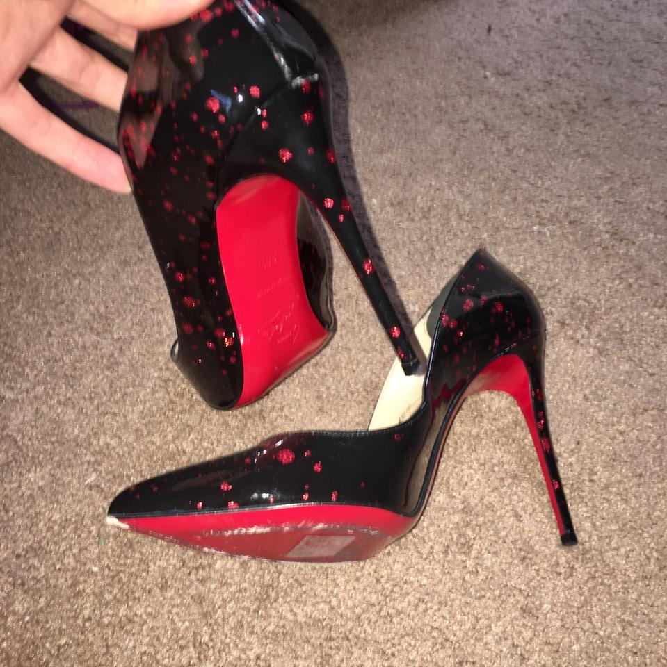 on sale b439e 7c8cb Christian Louboutin Black and Red Glitter So Kate Neiman Marcus Exclusive  Formal Shoes Size EU 39 (Approx. US 9) Regular (M, B) 60% off retail