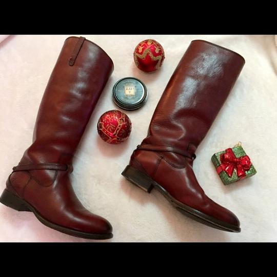 Frye burnt red Boots