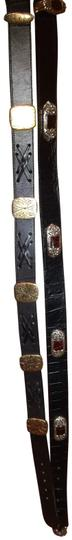 Preload https://img-static.tradesy.com/item/22426958/brighton-black-two-embellished-leather-and-silver-belt-0-2-540-540.jpg
