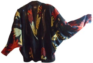 Other Jutta Covian Graphic Batwing Vintage Silk multi-color Jacket