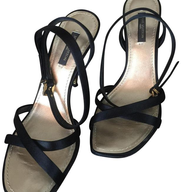 Item - Black / Gold And Strappy Sandals Formal Shoes Size US 6.5 Regular (M, B)