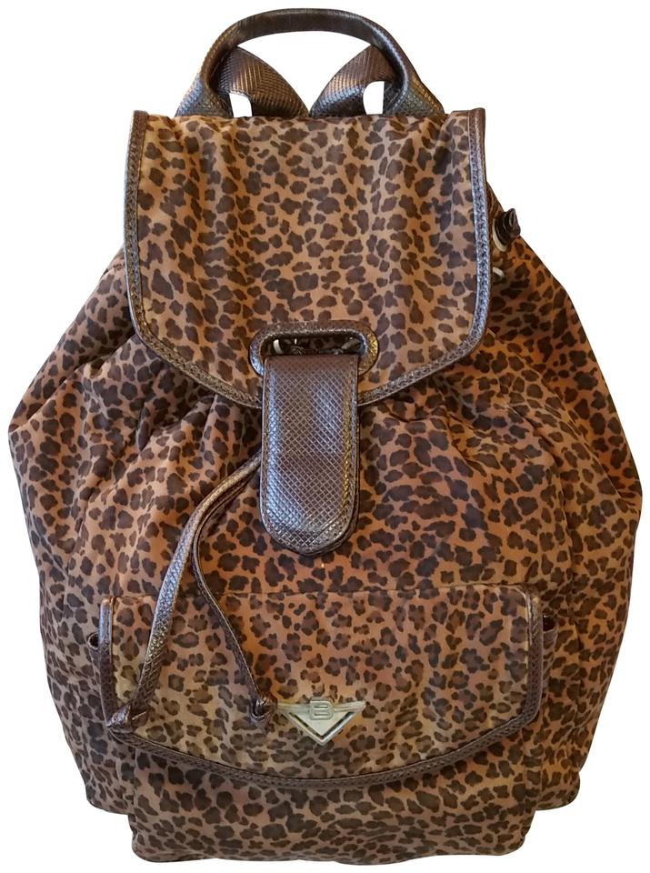 0e448a7d66 Bottega Veneta Brown Leopard Nylon Backpack - Tradesy