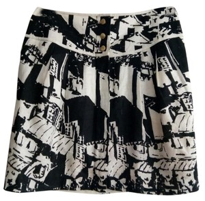 Tory Burch Mini Skirt black and white