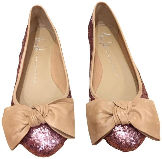 Franco Sarto Pink and Tan Alpine Glitter Flats Size US 8 Regular (M, B) Franco Sarto Pink and Tan Alpine Glitter Flats Size US 8 Regular (M, B) Image 1