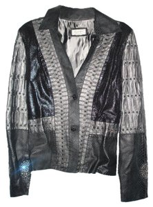 Kippys Crystal Studded Embossed Leather Jacket