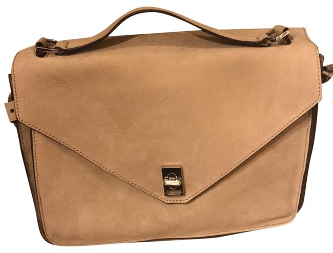 Item - Darren Grey Suede Leather Messenger Bag