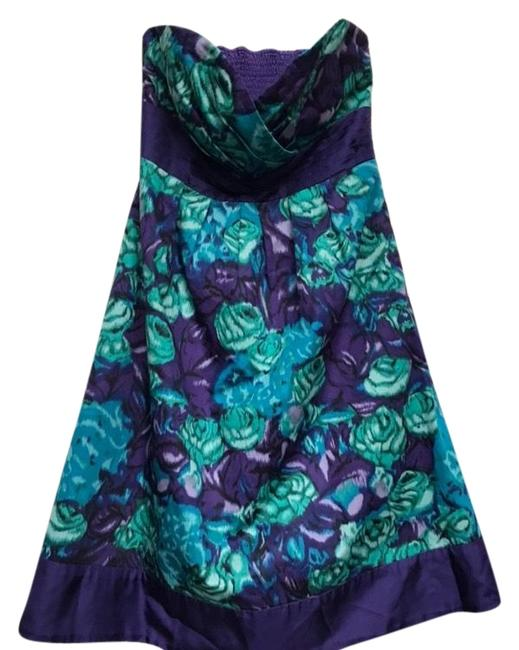 Preload https://img-static.tradesy.com/item/22427148/moulinette-soeurs-floral-purple-and-turquoise-short-cocktail-dress-size-0-xs-0-1-650-650.jpg
