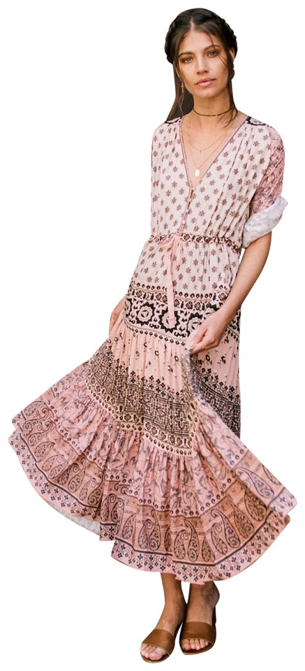 Spell & the Gypsy Collective Sundown Pink Lionheart Gown Long Casual ...