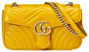 Gucci Leather Gg Classic Marmont Marmont Collection Shoulder Bag