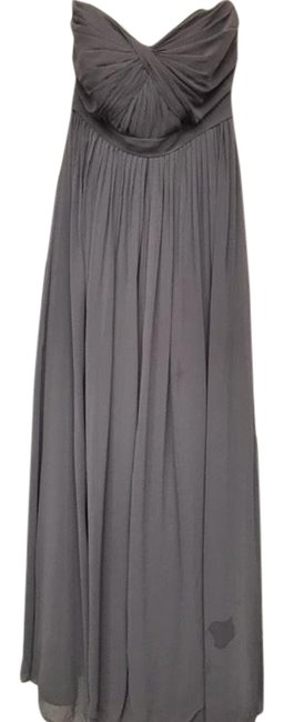 Item - Grey Long Formal Dress Size Petite 2 (XS)
