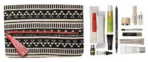 Bergdorf Goodman Bergdorf Goodman Multi-colored Canvas Fold Over & Snap Cosmetics Bag - item med img