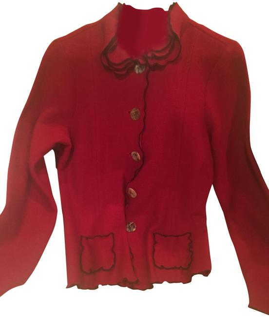 Preload https://img-static.tradesy.com/item/22427227/red-and-black-sweater-jacket-cardigan-size-4-s-0-2-650-650.jpg