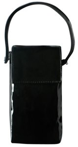 Poppie Jones POPPIE Black Patent Leather Wristlet
