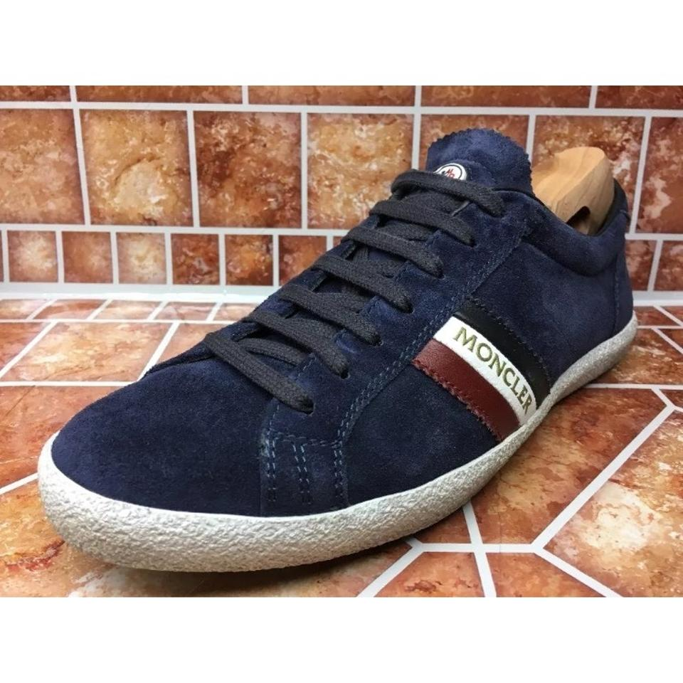 Moncler Blue Calf Tessuto Sneakers Italy Sneakers Suede Monaco Navy w7rFqOw