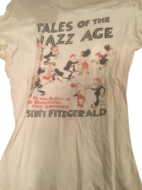 Preload https://img-static.tradesy.com/item/22427697/cream-f-scott-fitzgerald-t-shirt-tee-shirt-size-8-m-0-2-650-650.jpg
