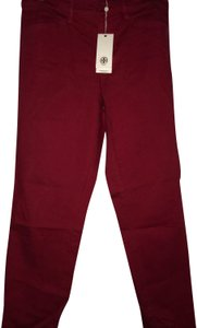 Tory Burch Skinny Pants Red