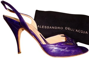 Alessandro Dell'Acqua Run Small True Plum Purple Sandals