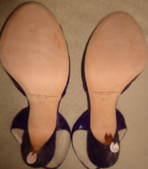Alessandro Dell'Acqua Run Small Appear More Blueish Than They Really Are True Plum Purple Sandals