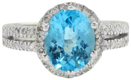 Preload https://img-static.tradesy.com/item/22427806/white-334-ctw-natural-blue-swiss-topaz-and-diamonds-in-14k-solid-gold-ring-0-1-540-540.jpg