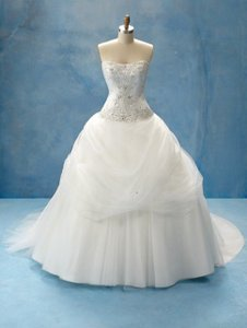 Alfred Angelo Ivory/Metallic Belle Style 206 Traditional Wedding Dress Size 10 (M)