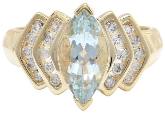 Preload https://img-static.tradesy.com/item/22427837/yellow-gold-200ctw-natural-blue-aquamarine-and-diamond-in-14k-women-ring-0-1-540-540.jpg