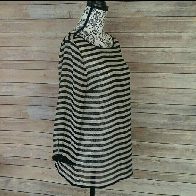Ann Taylor LOFT Top Black and Cream