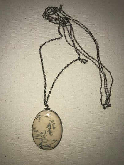 Anthropologie Carved Pendant Victorian Inspired Delicate Nature Necklace