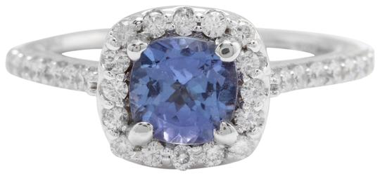 Preload https://img-static.tradesy.com/item/22427945/14k-white-gold-16ctw-natural-blue-tanzanite-and-diamond-in-solid-ring-0-1-540-540.jpg