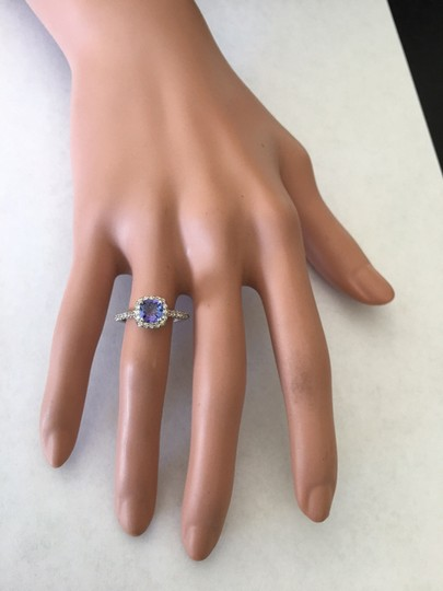 Other 1.6CTW Natural Blue Tanzanite and DIAMOND in 14K Solid White Gold Ring