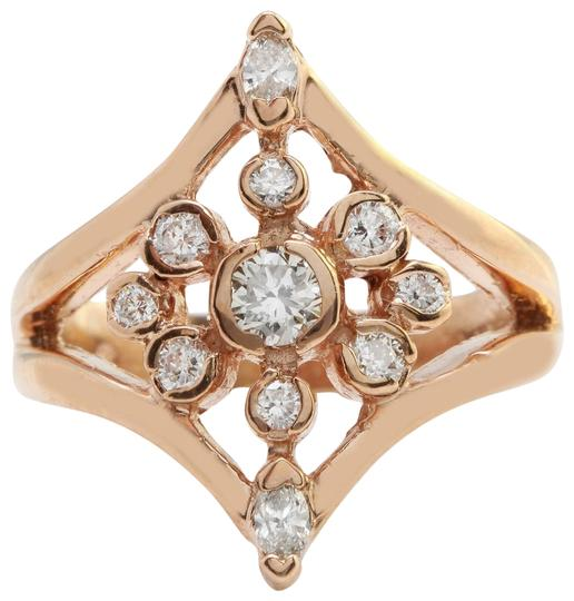 Preload https://img-static.tradesy.com/item/22427981/rose-gold-105ctw-natural-vs2-diamonds-in-14k-solid-ring-0-1-540-540.jpg
