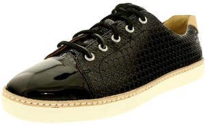 27882a11404f9 Sperry Black Gold Cup Cruz Leather Embossed Sneaker Flats Size US 5.5  Regular (M, B) 77% off retail